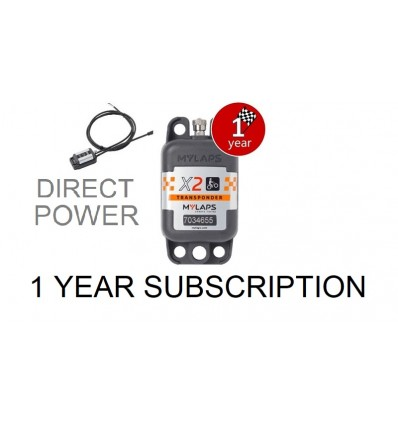 X2 Transponder MX Direct Power + 1 year Subscription (pack)