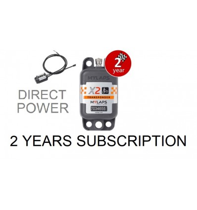X2 Transponder MX Direct Power + 2 year Subscription (pack)