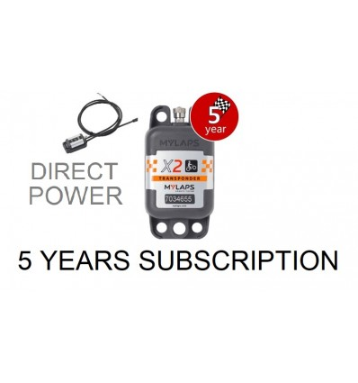 X2 Transponder MX Direct Power + 5 year Subscription (pack)