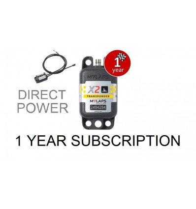X2 Transponder Kart Direct Power + 1 year Subscription (pack)