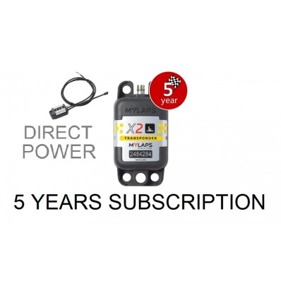 X2 Transponder Kart Direct Power + 5 year Subscription (pack)