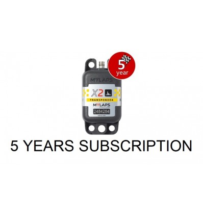 X2 Transponder Kart + 5 year Subscription (pack)