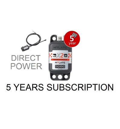 X2 Transponder Car / Bike Direct Power + 5 year Subscription (pack)