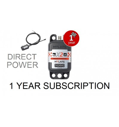 X2 Transponder Car / Bike Direct Power + 1 year Subscription (pack)