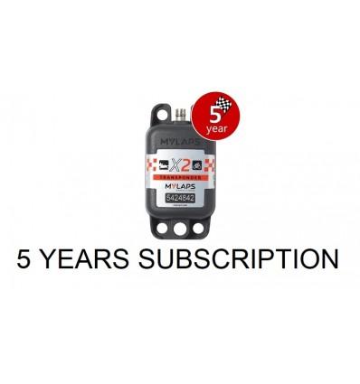 X2 Transponder Car / Bike + 5 year Subscription (pack)