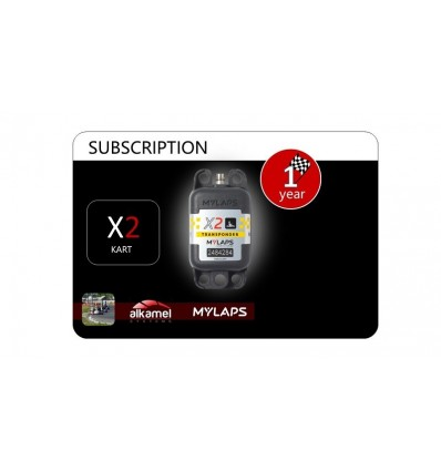1 Year Kart Subscription Card X2 Transponder